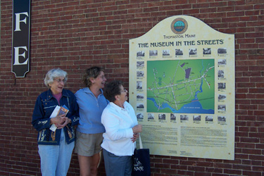 Three ladies in Thomaston, Maine